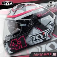 贈深墨片 KYT安全帽 NF-R 選手彩繪 #41 灰 內墨片 內鏡 全罩式 NFR 雙D扣 耀瑪騎士機車部品