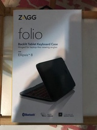 ZAGG Folio 輕便迷你鍵盤 無線藍牙連接 Backlit Tablet Keyboard Ellipsis 8