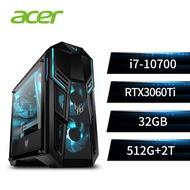 宏碁Acer-Predator 電競桌機(i7-10700K/32G/512G+2T/RTX3070/W10P) PO5-615s Core i7-10700K附 Microsoft 365 個人版