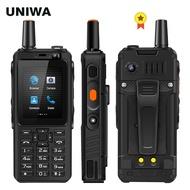 UNIWA F40 Zello Walkie Talkie 4Gโทรศัพท์มือถือ 4000MAhกันน้ำทนทาน 2.4 ''Quad Core Androidสมาร์ทโฟน 4G