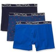 Nautica 透氣合身四角內褲藍色系列(3件組)