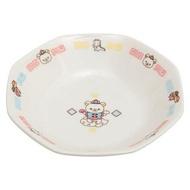 小禮堂 懶懶熊 拉拉熊 八角形陶瓷盤湯匙組《白.中國服》炒飯盤.沙拉盤.調羹