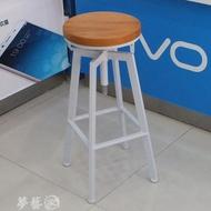吧台椅 鐵藝酒吧椅工業風旋轉吧凳家用升降吧台椅實木高腳椅高吧台凳子 MKS夢藝家