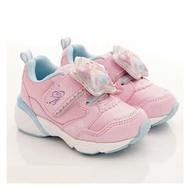日本 MOONSTAR 冰雪奇緣電燈兒童機能運動鞋 粉色(15-17cm)