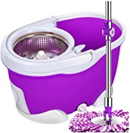Rotating Mop, Super Spin Mop Spinning Mop Bucket Metal Rotating Cleaning 4 Mop Heads