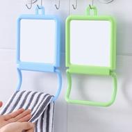 [虧本出售] 簡約壁掛台式化妝鏡 化妝台 台鏡 化妝鏡子 可掛毛巾鏡子 梳妝鏡 桌上 化妝鏡 兩用鏡 浴室梳妝鏡