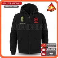 Zip Hoodie Embroidery Yamaha Monster MotoGP Motorcycle Motosikal 125Z LC135 RXZ