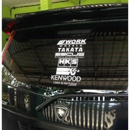 Sticker Brands For Car Rear View Mirror