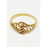916 Gold Solid Pattern Ring
