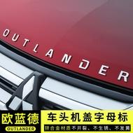 三菱歐藍德outlander字母車頭金屬標貼原廠改裝飾汽配件專用用品2019款