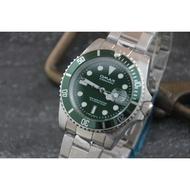 OMAX歐馬仕尚勞利仕名款~全綠水鬼~submarine造型全不鏽鋼製石英錶 (綠框綠面)