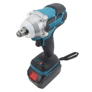18V Cordless Impact Wrench Brushless Dual-Use 1/2 Square Electric Wrench with LED Light, Suitable for Makita Battery