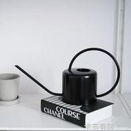 植物私生活 |家用長嘴不銹鋼澆水壺黑色黃銅色盆栽水壺【居家家】