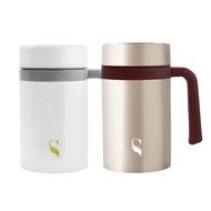 [特價]SWANZ陶瓷保溫馬克杯-2色-500ml-雙件優惠組-棕色+棕色