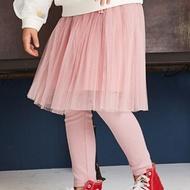 麗嬰房 Little moni - 假兩件網紗蓬裙褲-粉紅