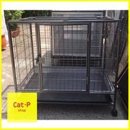 CATPET SHOP ศูนย์รวมอุปกรณ์ สัตว์เลี้ยงทุกชนิด ลดล้างสต๊อค จำกัดจำนวน สั่งเลย ! กรงแมวขนาดใหญ่ กรงแมวทําเอง กรงสุนัข กรงหมา กรงแมว เหล็กใหญ่4หุน ถอดประกอบได้ แข็งแรงทนทาน เปิดฝาบนได้ ไซส์S พร้อมล้อ