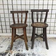 【已售出勿下標】WH15039【四十八號老倉庫】二手 早期 實木 孔雀椅 餐桌椅 木椅 高72cm 2張價