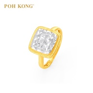 POH KONG 916/22K Yellow Gold Trendy Biscuit Design Ring