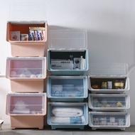 前開式收納箱 前開式收納箱塑膠兒童玩具整理箱透明側開式儲物箱側開門收納箱子『MY4255』