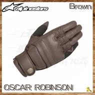 ~任我行騎士部品~Alpinestars OSCAR ROBINSON 褐 復古 皮革 羊皮 防摔手套 哈雷 復古 A星