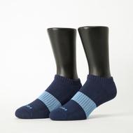 Footer除臭襪-時光秘徑運動船短襪-六雙入(藍*6)