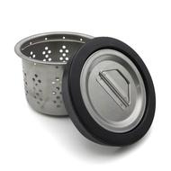 通用型水槽提籠三件組(大) 水杯濾網排水孔防蟑不鏽鋼大提籠洗碗槽橡膠塞子水槽蓋