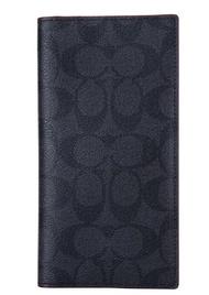 Coach F25518 Men's Long Signature CC Logo Wallet (Black)