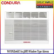 Condura 6s WCONZ006EC1 (0.5HP) Window Type Aircon, Non-Inverter