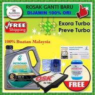 Proton Exora Turbo Preve Turbo - OSK Air Filter A-1109P1 + Proton Oil filter + Petronas Engine Oil -  Syntium 800 10W-40