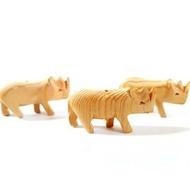 天然檜木恐龍 檜木犀牛 檜木恐龍 檜木吊飾 聖誕飾品 項鍊墜子 兒童玩具