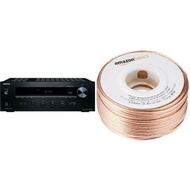Onkyo TX-8020 Stereo Receiver and AmazonBasics 16-Gauge Speaker Wire - 100 Feet Bundle