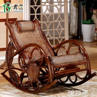 搖椅 真藤搖椅大人逍遙躺椅涼椅藤椅沙發 家用陽臺藤編老人午休睡椅子