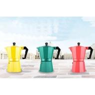 ของแท้ มอคค่าพอท (MOKA POT)หม้อต้มกาแฟสด อลูมิเนียม 120 มล. (สีเขียว สีเหลือง สีแดง)Hagan 24 Shop0565 เครื่องชงกาแฟ เครื่องชงกาแฟสด เครื่องชงชา เครื่องชงชากาแฟ เครื่องทำกาแฟ