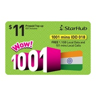STARHUB Prepaid WOW! 1001 1.1GB DATA eTop-Up - Instant Top-Up 24Hours