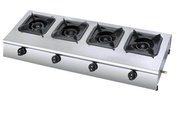 Heavy duty 4 burner cooktop gas stove