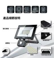 小翰館 專業賣家 ~ 太星電工 30W LED感應投射燈/白光(110V)
