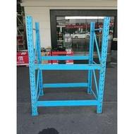 [龍宗清] 2層倉儲物料架組(藍) (18030906-0016) 重型鐵架 模具架 物料架 多層架  2層鐵架