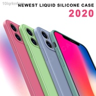 ❧Case iPhone 11 Pro Max X XS XR  6 7 8 6S Plus 7P 8P Casing Quick Convert To 12 New Liqueid Silicone Candy Phone Soft M