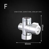 แขนฝักบัวทองเหลือง Diverter เครื่องแยกน้ำวาล์วสำหรับมือถือ Showerhead และคงที่หัวฉีด, ห้องน้ำ Universal ระบบฝักบัวอาบน้ำเปลี่ยน