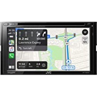 """JVC KW-V960BW Bluetooth Car Stereo Receiver with USB Port– 6.8"""" Touchscreen Display - AM/FM Radio - MP3, CD and DVD Player - Double DIN – SiriusXM, with Apple CarPlay and Android Auto (Black)"""