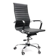 High Swivel Executive Computer Office Desk Chair Adjustable Ergonomic PU Leather - intl