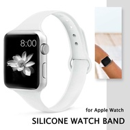 Slim Silicone Strap Band for Apple watch Band 40mm 44mm 38mm 42mm Watchband Soft Material Watch Band Wrist Strap Smart Watch Accessories wristbands Womens Belt Bracelet for i Watch series 4 5 3 2 1 40mm 44mm 42mm 38mm