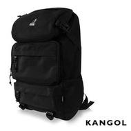 KANGOL 英式時尚 登山超強機能後背包 ( 黑)可放置13吋筆電扣層後背包KG1106