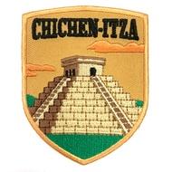 墨西哥 瑪雅金字塔 神秘力量 地標布藝刺繡徽章 胸章 立體繡貼 裝飾貼 繡片貼 燙布貼紙
