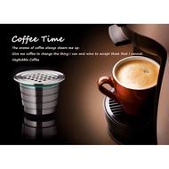 กาแฟแคปซูล304สแตนเลส K Cup Brewers สำหรับ Nespresso เครื่องทำกาแฟเอสเปรสโซ่
