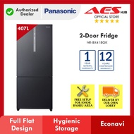 PANASONIC 407L Gross Refrigerator Inverter 2 Door Fridge / Peti Sejuk Peti Ais 2 Pintu 冰箱 NR BX418GK NR-BX418GK