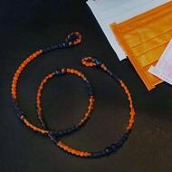 美國 Pro Hair Tie 扣環髮圈 口罩鏈-黑橘色 綁髮神器 不咬髮 碰水不發臭