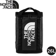 【The North Face EXPLORE FUSEBOX後背包26L《黑》】3KYF/雙肩背包/書包/防水背包/旅遊