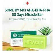 SOME BY MI: สบู่รักษาสิว 30วัน AHA-BHA-PHA 30 DAYS MIRACLE CLEANSING BAR Soap ใช้ได้ทั้งผิวหน้า และผิวกาย สำหรับผู้ที่มีปัญหาสิว ผิวมัน รูขุมขนกว้าง