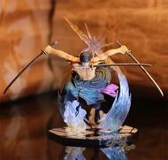 海賊王索隆手辦擺件 佐羅戰鬥版三刀流煉獄鬼斬動漫模型玩偶公仔
